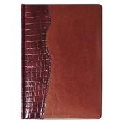 Ежедневник CARDINAL, датированный, бордовый с коричневым фото