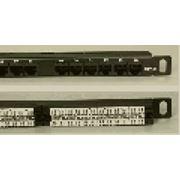 """Патч-панель 24 порта UTP кат 6 0.5U 19"""" с менеджментом кабеля фото"""