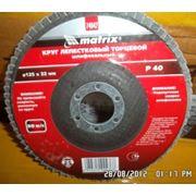 Круг лепестковый КЛТ 125х22 Р40 плоский профиль фото