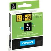 Стандартные этикетки D1, 12 мм х 7м Желтый фото