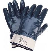 Перчатки нитриловые полный облив манжета - крага фото
