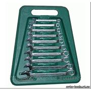 Инструмент HANS. Набор ключей комбин. изогнутых 10 пр. 8-19 мм ложем. (166310MB) фото