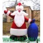 Новогоднии пневмоконструкции Дед мороз фото