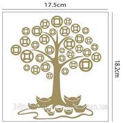 Наклейка Дерево богатства с монетами фото