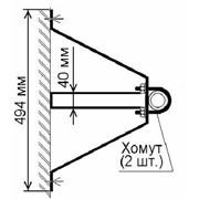 Кронштейны стеновые МТ-5 (45 см вынос) для крепления ТВ-мачт фото