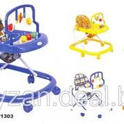 Ходунки детские с музыкальной панелью и поворотными колесами фото
