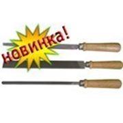 Напильник трехгранный с ручкой, 250 мм, № 2, Россия (42-121) фото