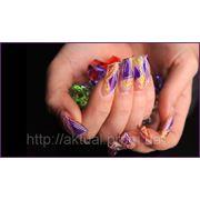 Замена ногтя с применением технологии «аквариум» (материал: акрил) повышенной сложности фото