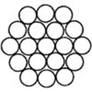 Канат стальной одинарной свивки типа ТК ГОСТ 3063-80 DIN 3053 1х19 (1+6+12) фото