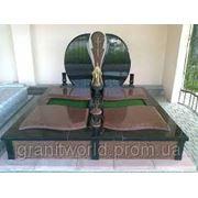 Памятникидля двоих из гранита (букинское габбро лезники) (Образцы №448) фото