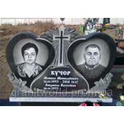 Памятники грантные для двоих (Образцы №435) фото