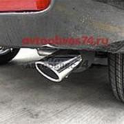 Насадка на глушитель, нерж. сталь, Toyota LC Prado150 09- фото