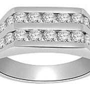Кольцо мужское классическое с бриллиантами I1/G 1,01 Ct фото