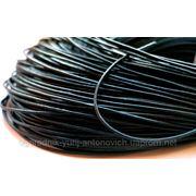 Шнурок кожаный круглый черный, d-1.8 мм фото