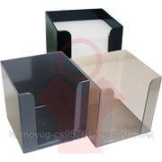 Блок-куб' дымчатый пластиковый бокс. (1811202) фото