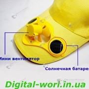 Бейсболка \ кепка с вентилятором на солнечных батареях фото