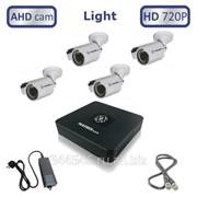 Готовый комплект из 4 уличных видеокамер высокого качества HD 720P/1 МегаПиксель - MT-AHD720C4L фото