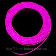 Холодный неон / электролюминисцетный провод 2-го поколения 2,2 мм, фиолетовый (розница, опт) фото