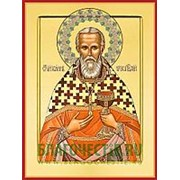 Храм Покрова Богородицы Иоанн Кронштадтский, святой праведный, икона на сусальном золоте (дерево 2 см с ковчегом) Высота иконы 10 см фото