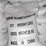 Гексаметафосфат натрия (натрия полифосфат, соль Грахама) фото