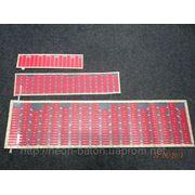 Неоновый эквалайзер красный размером 114 на 30 см фото