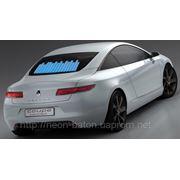 Неоновый Авто эквалайзер / автоэквалайзер на заднее стекла автомобиля, размером 70*16 см фото