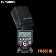 Вспышка Yongnuo yn-560III c встроеным приемником радио синхронизатора + Гарантия 1 год фото