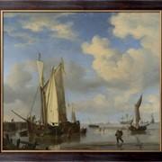 Картина Голландские суда и купающиеся люди, Велде, Виллем ван де (Младший) фото