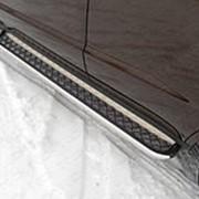Пороги Gilly Emgrand X7 2013-наст.время (с площадкой 42 мм) фото