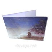 Прикольная обложка для зачётки Ёжик в тумане фото