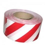 Лента сигнальная 50мм х 200м, красно-белая фото