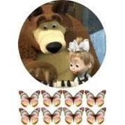 """Вафельная картинка """"Маша и медведь №6"""" фото"""