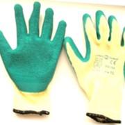 Перчатки нейлоновые покрытые вспененным латексом фото