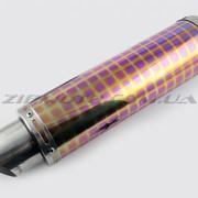 Глушитель тюнинг 420*100mm, креп. Ø78mm нержавейка, квадраты, без креплений, mod:43 фото