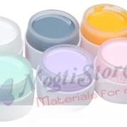 Набор цветных УФ гелей из 6 штук. фото
