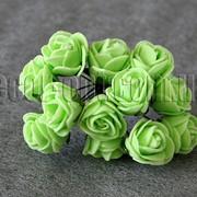 Букет салатовых розочек из латекса 2,0-2,5 см 6643 фото