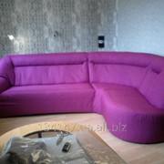 Пошив съемных чехлов на мебель, Чехол на угловой диван фото