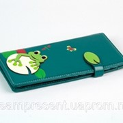 Женский кошелек с жабкой бирюзовый фото