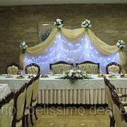 Оформление свадеб, юбилеев, детских праздников тканями фото