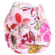Многоразовый подгузник GlorYes! CLASSIC+ Цветы 3-18 кг + два вкладыша фото