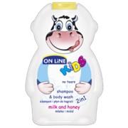 On Line kids шампунь + пена для ванн молоко и мед, 250 мл фото