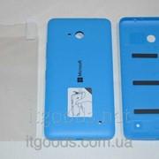Крышка задняя синяя для Microsoft Lumia 640 + ПЛЕНКА В ПОДАРОК 4148 фото