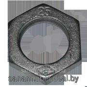 Контргайка Ду15 чугунная черная фото