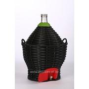 Бутыль-демиджон с краном для вина и пластиковой крышкой, 17 литров фото