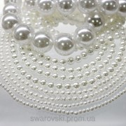Акриловые жемчужные бусины. Цвет White (белый) 14мм. (10шт) фото