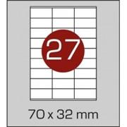 Этикетки самоклеящиеся 70х32 мм фото