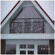 Ограждения балконов, лестниц кованные. фото