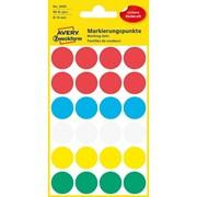 Этикетки-точки Avery Zweckform для выделения, круглые, d 18 мм, разноцветные, 96 штук Ассорти фото
