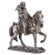 Статуэтка Воин охотник с соколами/Олово 8,5х9,5х3,5см. арт.WS-824 Veronese фото
