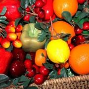 Искусственные фрукты и овощи фото